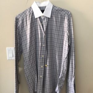 David Donahue Dress Shirt. Trim 16.5 34/35